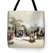Fountain Of The Virgin Nazareth Tote Bag