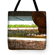 Fountain With Painted Effect Tote Bag
