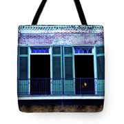 Four Balcony Windows Tote Bag