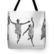 Four Dancers Leaping Tote Bag