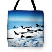 Four F-14 Tomcats And Three F-5 Tiger Tote Bag