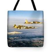 Four F-5 Tiger IIs Fly Above Southern Tote Bag