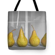 Four Pears On Windowsill Tote Bag