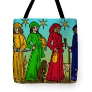 Four Temperaments, Medieval Woodcut Tote Bag