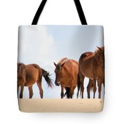 Four Wild Mustangs Tote Bag