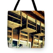 Four Wooden Chairs Tote Bag