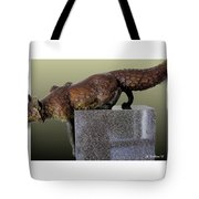 Fox On A Pedestal Tote Bag