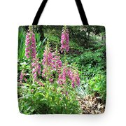 Foxgloves In My Garden Tote Bag