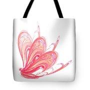 Fractal - Red Flow Tote Bag