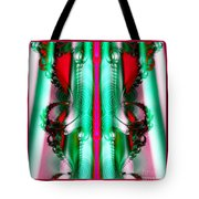 Fractal 29 Christmas Ribbons Tote Bag