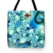Fractal And Swan Tote Bag