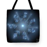 Fractal Blue Star Tote Bag