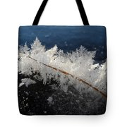 Fractal Frosty Ice Crystals Tote Bag