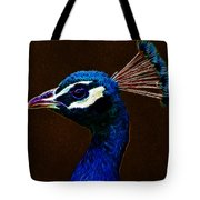 Fractalius Peacock Tote Bag