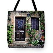 Framed In Flowers Dordogne France Tote Bag