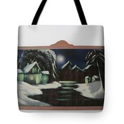Framed Moon On Ice Tote Bag