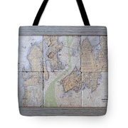 Framed Narragansett Bay Tile Set Tote Bag