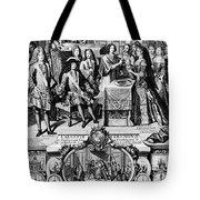 France: Baptism, 1704 Tote Bag