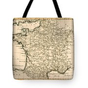 France By Regions Tote Bag
