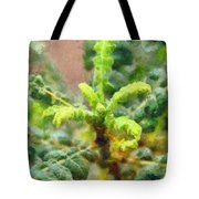 Frankincense Tree Leaves Tote Bag