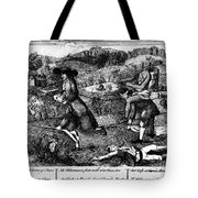 Franklin: Cartoon, 1764 Tote Bag