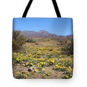 Franklin Mt. Poppies Tote Bag