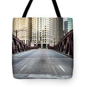 Franklin Orleans Street Bridge Chicago Loop Tote Bag by Paul Velgos