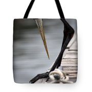 Fred The Great Blue Heron Tote Bag