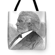 Frederick Douglass (c1817-1895). American Abolitionist. Wood Engraving, American, 1877 Tote Bag