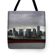 Freighter In Port Tote Bag