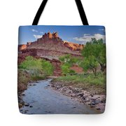 Fremont River And Castle Tote Bag