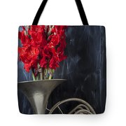 French Horn With Gladiolus Tote Bag