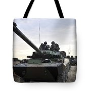 French Marines Lead A Convoy Of Combat Tote Bag