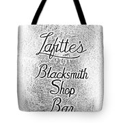 French Quarter Illuminated Lafittes Blacksmith Shop Bar Sign New Orleans Photocopy Digital Art Tote Bag