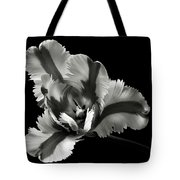 French Tulip In Black And White Tote Bag