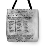 French/dutch Dictionary Tote Bag