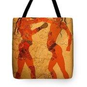 Fresco Of Boxing Children Tote Bag