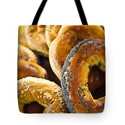 Fresh Bagels Tote Bag by Elena Elisseeva
