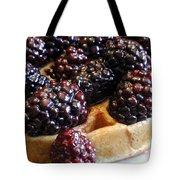 Fresh Blackberry Waffles Tote Bag