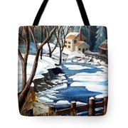 Fresh Snow In Virginia Tote Bag