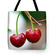 Fresh Wet Cherries Tote Bag
