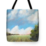 Freshly Cut Hay Field Tote Bag