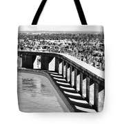 Frey Pool Bw Palm Springs Tote Bag