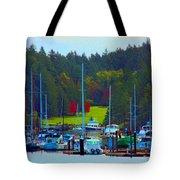 Friday Harbor Docks Tote Bag