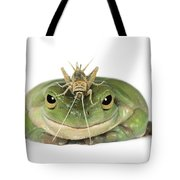 Frog And Grasshopper Tote Bag