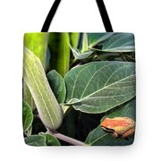 Frog And Moonflower Tote Bag
