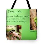 Frog Haiku Tote Bag by Laurel Talabere