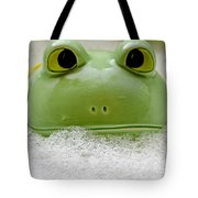 Frog In The Bath  Tote Bag