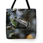 Frog In The Millpond Tote Bag