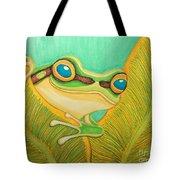 Frog Peeking Out Tote Bag